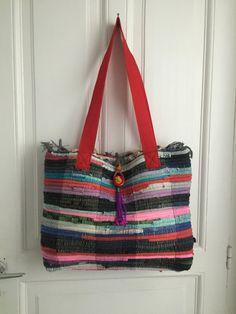 Boho Rug Bag with a Handmade Tassel