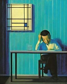 Liu Ye - self portrait with Mondrian