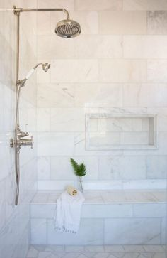 From white marble to black sliced pebble stones and beyond, discover the top best bathroom shower tile design ideas photos. - Outstanding Bathroom Shower Tile Ideas (Worth-Trying Inspiration) Bad Inspiration, Bathroom Inspiration, Bathroom Ideas, Bathroom Organization, Bathroom Storage, Budget Bathroom, Bath Ideas, Best Bathroom Designs, Bathroom Hacks