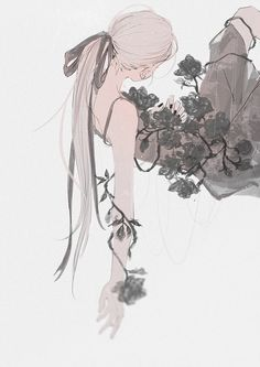 Anime, manga, and video game fan-art artworks from Pixiv (ピクシブ) — a Japanese online community for artists. pixiv - It's fun drawing! Art And Illustration, Dark Art Illustrations, Arte Inspo, Kunst Inspo, Anime Art Girl, Manga Art, Fantasy Kunst, Fantasy Art, Aesthetic Art