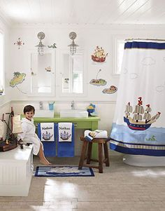 PBK Jake's Pirate or Treasure Cove.  One of my all-time favorite PBK bathrooms (sadly, discontinued). Love the punch of color with the bright green sink base. That would be a great way to dress up an old one you're not quite ready to replace yet.