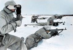 German soldiers from 1st Ski Division armed with StG 44's in Pripyat, Ukraine.