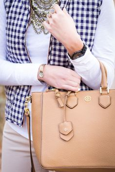 A Southern Drawl: Navy Gingham