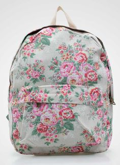 Floral backpack by Lime Vintage Me. Mix and match this with all floral apparels. http://zocko.it/LESIG