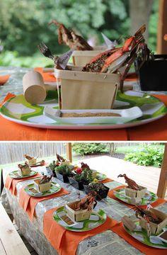 Shrimp Boil Party Decorations | Pampers Playdates U0026 Parties