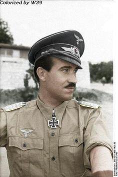 Fighter ace Adolf Galland, Italy, 1943.