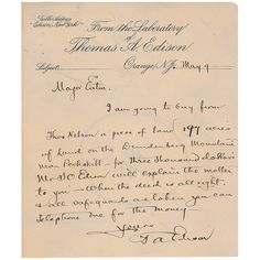 14 Best Thomas Edison Letters images | Calligraphy, Lettering, Letter