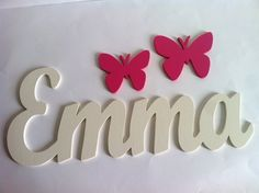 Wooden letters with butterflies custom by Planetasierra, Baby E, Name Art, Letter A Crafts, Wood Letters, Diy Home Crafts, Baby Boy Shower, Birthday Wishes, Designer, Projects To Try