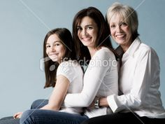 mother, daughter, and granddaughter Royalty Free Stock Photo