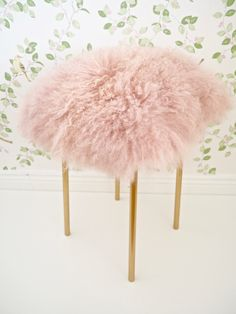 Ikea Hack, DIY Fur Stool | The dainty dress diaries