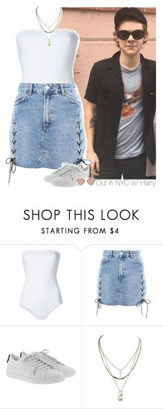 """""""Out in NYC w/ Harry"""" by amberamelia-123 ❤ liked on Polyvore featuring ONIA, Topshop, Yves Saint Laurent, LORAC and Christian Dior"""