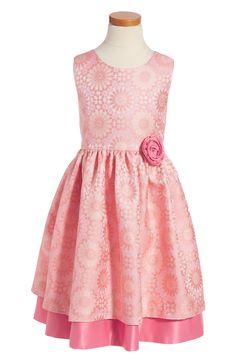 Main Image - Frais Sunburst Jacquard Sleeveless Dress (Toddler Girls, Little Girls & Big Girls)
