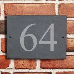 1000 Images About House Exterior On Pinterest House Number Signs Slate House Numbers And
