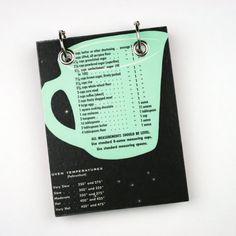 Recycled  Notebook Upcycled Vintage Cookbook  by RagAndBoneDesign