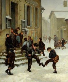 """""""In front of the School"""", 1881. Pierre Édouard Frère (1819–1886), French painter. Collection: Museums Sheffield."""