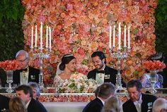 sweet heart table idea with lower candle holders...Wedding of Prince Carl Philip and Sofia Hellqvist  -  the wedding banquet