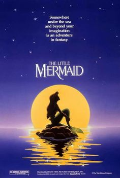 "An original poster for Disney's ""The Little Mermaid"". (1989)"