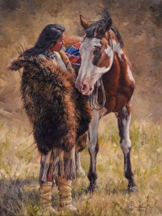 Artist David Graham. Zippertravel.com Digital Edition Native American Face Paint, Native American Horses, Native American Print, Native American Paintings, Native American Artists, American Indian Art, Indian Paintings, Indian Horses, West Art