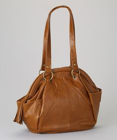 Take a look at this Jackson Handbags Cognac Dome Satchel on zulily today!