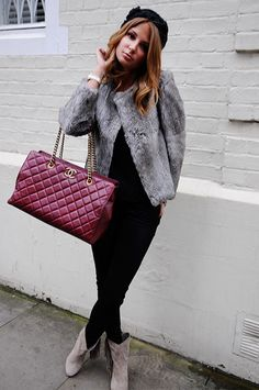 Chanel - millie mackintosh. I love the fur ;) I wish I could be this glam so easily ;)