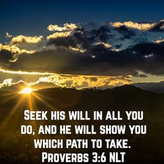 PROVERBS 3:6 NLT