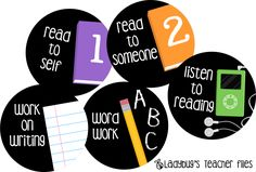 Love these daily 5 signs - simple and clean! Ladybug's Teacher Files: Daily Five Signs (Flipped Signs) Daily 5 Signs, Math Cafe, Daily Five Math, Ladybug Teacher Files, Polka Dot Classroom, Teaching Reading, Guided Reading, Teaching Ideas, Teaching Time