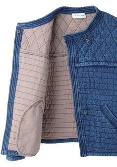 Isabel Marant Étoile Kandisa Quilted Denim Jacket | La Garçonne