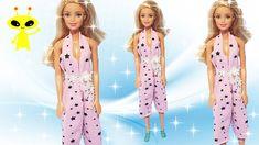 Easy DIY 👚👖How to make doll clothes Croptop pants #dolls #barbie #happyd... Diy Tutu, Diy Dress, Diy Clothes, Barbie Dolls, Easy Diy, Short Sleeve Dresses, Rompers, Baby Born, Crop Tops