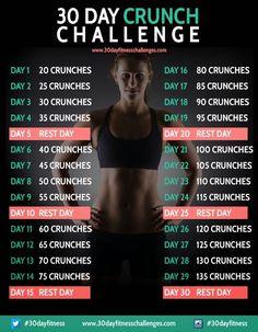 30 Day Challenge Crunches. Bikini body here I come!