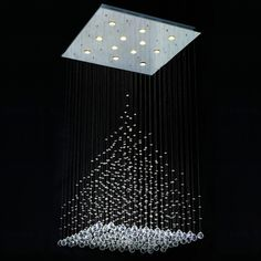 Square Stairs Restaurant Chandelier Hotel Project Modern Living Room Curtain Lights Cut Off Crystal Light