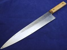 RAZOR SHARP vtg Forgecraft HI Carbon Steel French Chef Knife Hickory wood Handle