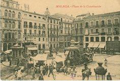 malaga. plaza de la constitución. 1915