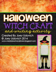 A whimsical witch to bewitch your hallway! Included, you will find step-by-step picture and word directions for mistake-free assembly. It also comes with writing prompts and writing page templates. $