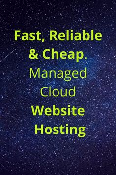 Website Hosting by Interserver is everything you want in a Host company. As low as 4 dollars a month. Check it out. Try it for just one cent. Note: I am an affiliate