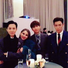 GD, CL, Daesung & T.O.P @ Taeyang's wedding.