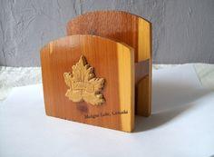 Vintage Napkin Holder Wood Napkin Holder by VintagePlusCrafts, $5.50