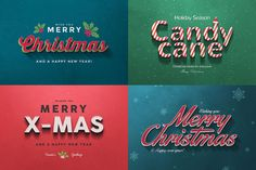 Mini Xmas Bundle: Greeting Cards, Text Effects & Vectors - only $12! - MightyDeals