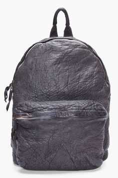 OFFICINE CREATIVE //  SHADOW GREY SOFT LEATHER BACKPACK