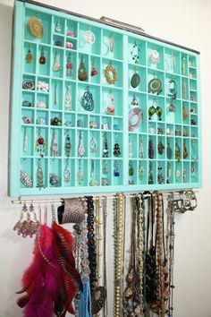 Handmade jewelry display