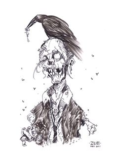 Zombie Cartoon Drawings | Zombie Sketch by Zubby