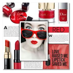 """~ Red Dragon ~"" by dolly-valkyrie ❤ liked on Polyvore featuring beauty, Bobbi Brown Cosmetics, Jagger, Chanel, Sephora Collection, Christian Dior and Smith & Cult"