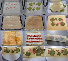 Lady bugs and clover roll cake