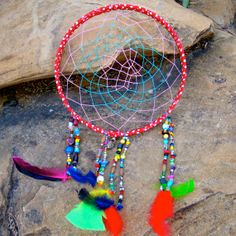 Bohemian Beaded Multicolored Large Dream Catcher by ApachesWife, $58.00