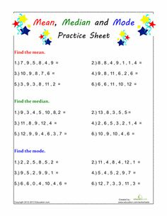 Printables Mean Mode Median Range Worksheet mean median mode range worksheets 7th grade math pinterest find the and mode