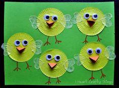 spring crafts for kids - Spring chicks