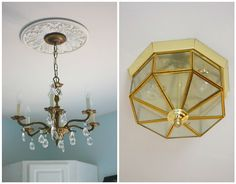 How can such a little and inexpensive change make me so happy? #DIY See the whole room.
