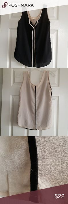 Lost April top Lost April 2 tone sheer sleeveless top Size large  No washing Instructions  very cute Lost April Tops Camisoles