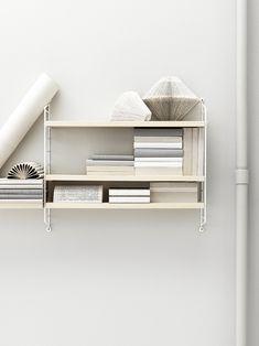 Trendenser - DIY book art + string shelf