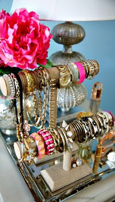 Bracelet stands - A cute way to organize your bracelets while displaying them at the same time.