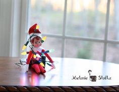 Elf decorates himself like a tree